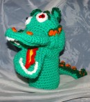 Crocheted Dragon Puppet