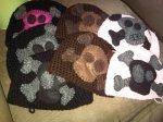 Cute baby skull caps by Ruthann