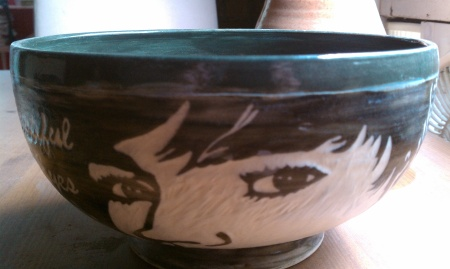 Beautiful Eyes Large Bowl - Anna W Collection