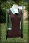 Fun Fall Brown and Green Hoodie