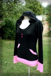 Girl-style Black hoodie