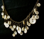 Cream Button Necklace