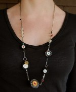 Long Necklace w/Buttons