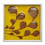 Carved and Fused Glass Tile by MichelleProsek