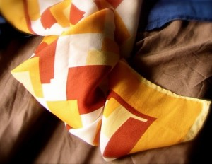 Geometric Fall Scarf by MossmottleManor