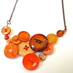 Vintage Button Necklace by Button Soup Jewlery