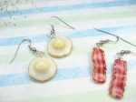 Bacon and Egg Earrings by beadpassion