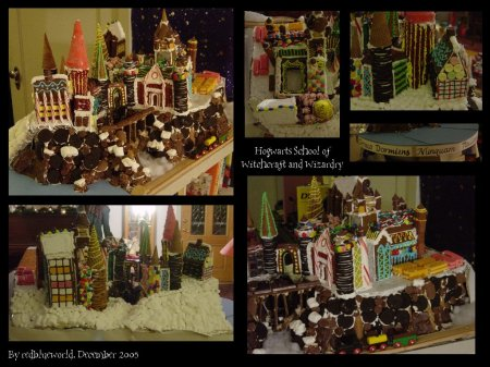 Gingerbread Hogwarts by redblueworld