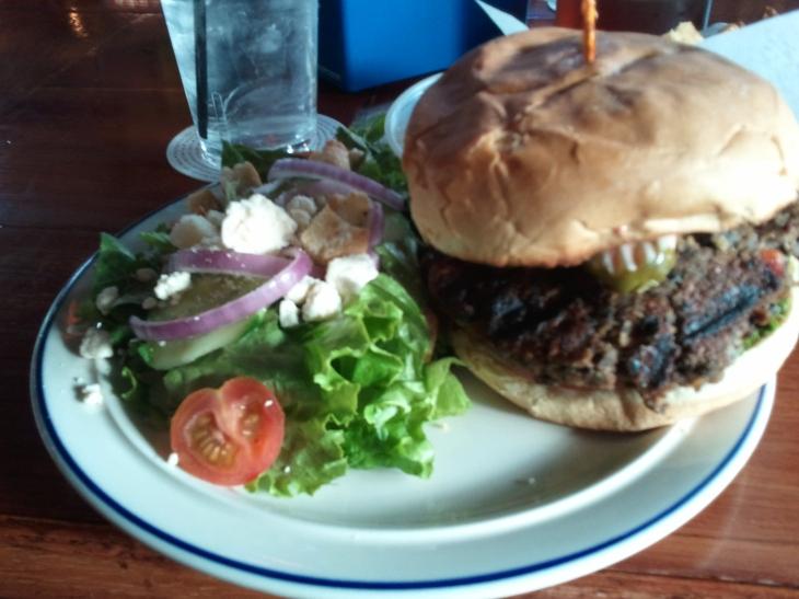 Green Pig's Black Bean Veggie Burger