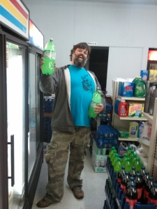 Todd Shows His Fav Drink at the E-Z Mart