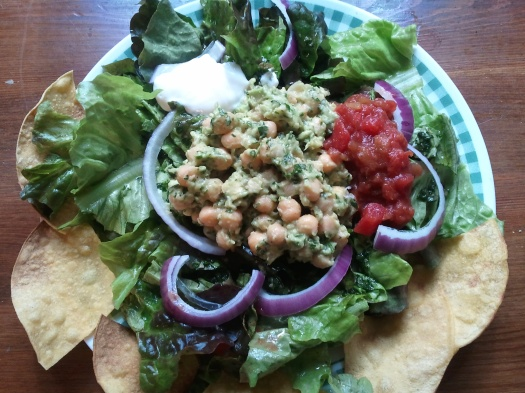 Chick pea Avocado Taco Salad