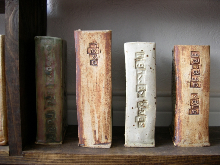 Zach Medler's ceramic book art