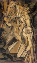 """Nude Descending a Staircase, No. 2"" by Marcel Duchamp, 1912"