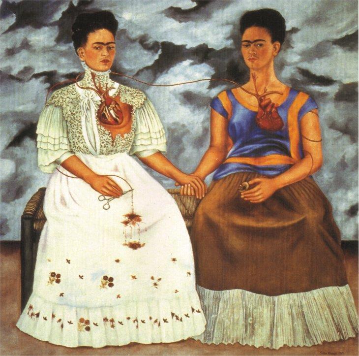 """""""Las Dos Fridas"""" by Frida Kahlo, 1939"""