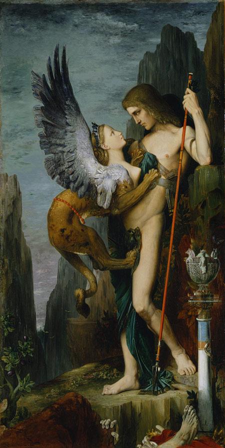 """""""Oedipus"""" by Gusatv Moreau"""