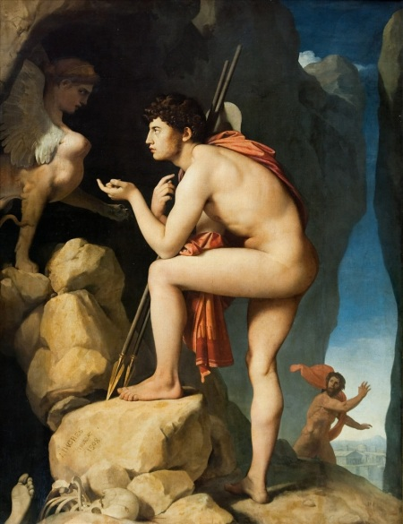 """Oedipus and the Sphinx""  by Jean Auguste Dominique Ingres"