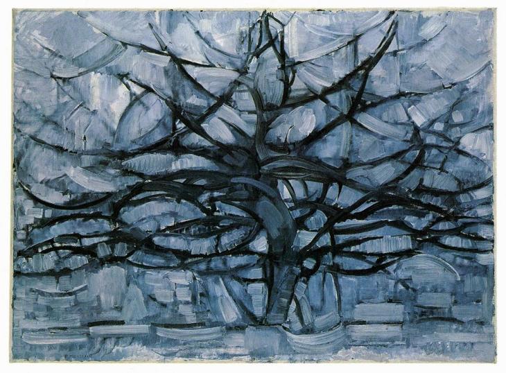 """Grey Tree"" by Piet Mondrian"