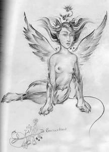 """Sphinx Drawing"" by Todd Powelson"