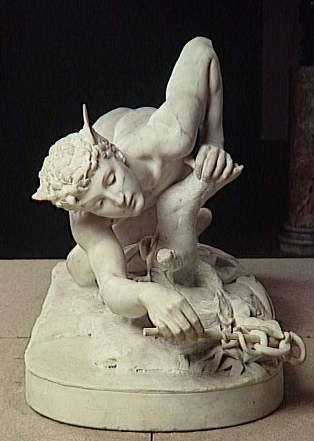 """""""Mercury Inventing the Caduceus"""" 1878 - Jean Antoine Marie Idrac"""
