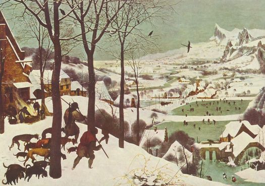 """Hunters in the Snow"" by Pieter Bruegel ""The Elder"" , 1565"