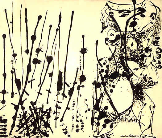 """Number 7"" by Jackson Pollock, 1951"