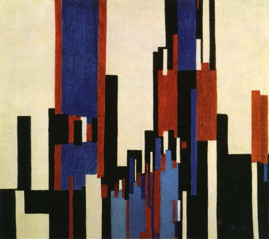 """Vertical Plains - Blue and Red"" 1913"