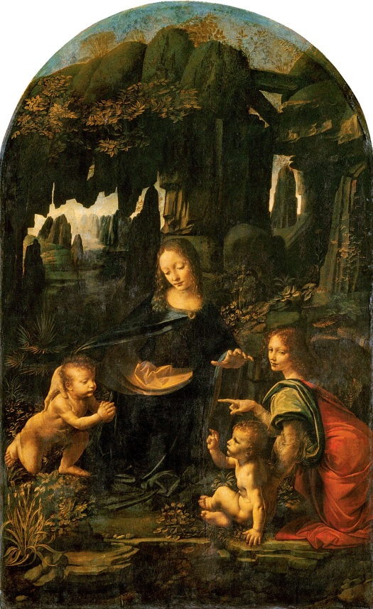 """Virgin of the Rocks"" by Leonardo da Vinci, 1483–1486"