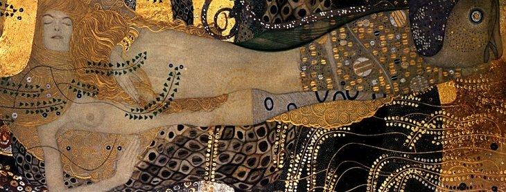 """Water Serpents I"" by Gustav Klimt"