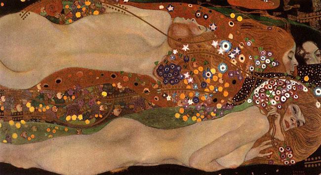 """""""Water Serpents II"""" by Gustav Klimt"""