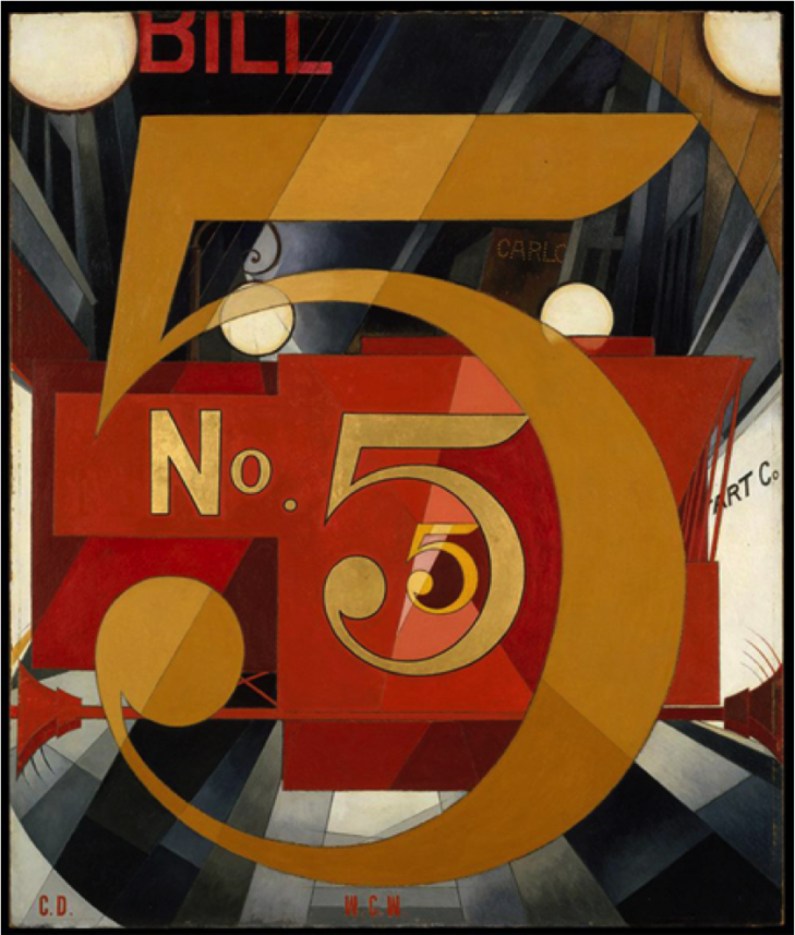 """I Saw the Figure Five in Gold"" by Charles Demuth"