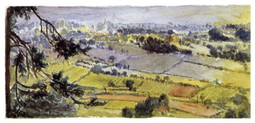 """King's Norton from Bilberry Hill"" by J.R.R. Tolkien"