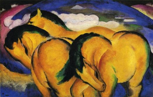 """Little Yellow Horses""  by Franz Marc"