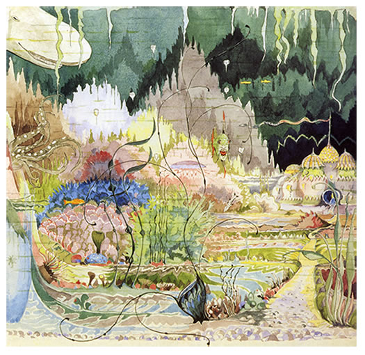"""The Gardens of the Merking's Palace (Roverandom)"" by J.R.R. Tolkien"
