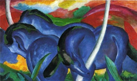 """The Large Blue Horses""  by Franz Marc"
