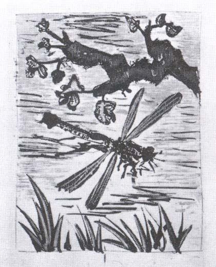 """La Libelule"", 1942, Etching with aquatint"