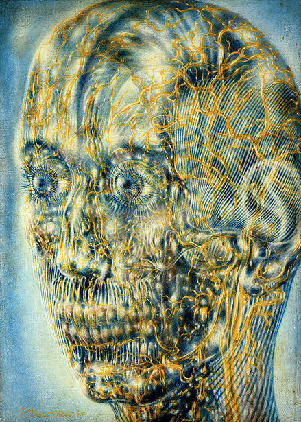 """Head of Gold"" by Pavel Tchelitchew"