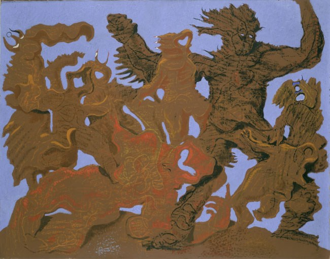 """The Horde"", by Max Ernst, 1927"