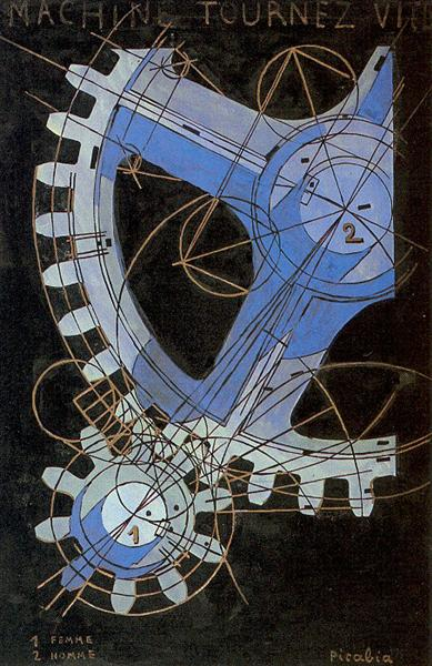 """Machines Turn Quickly"", by Francis Picabia, 1917"