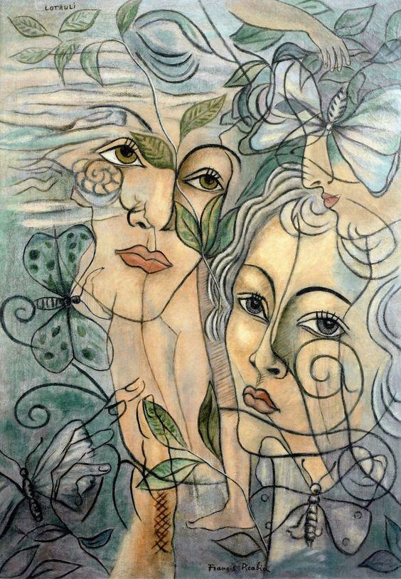 """""""The Athenaeum - Lotruli - Visage de Olga"""", Francis Picabia"""
